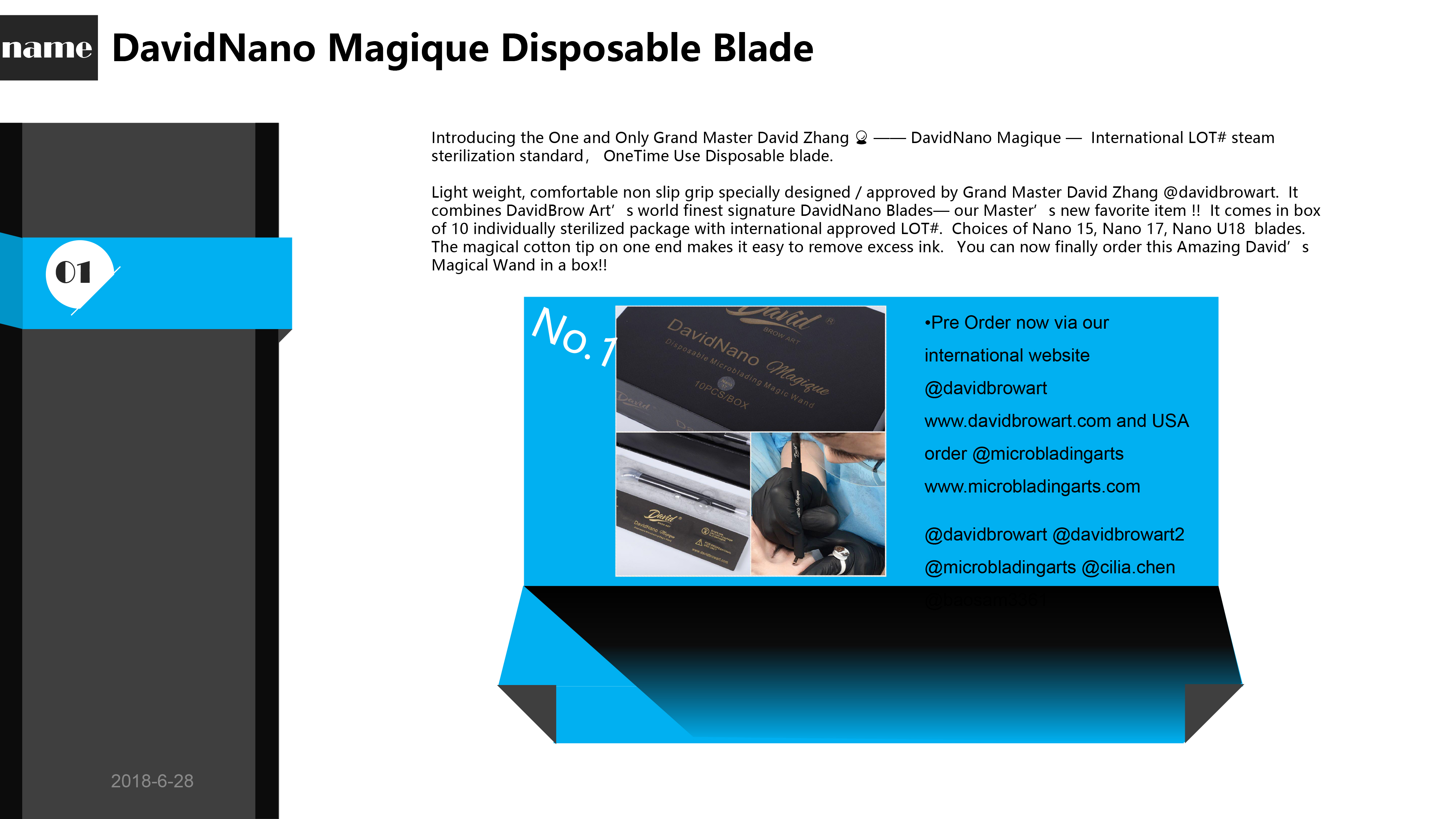 Latest Products:DavidNano Magique Disposable Blade